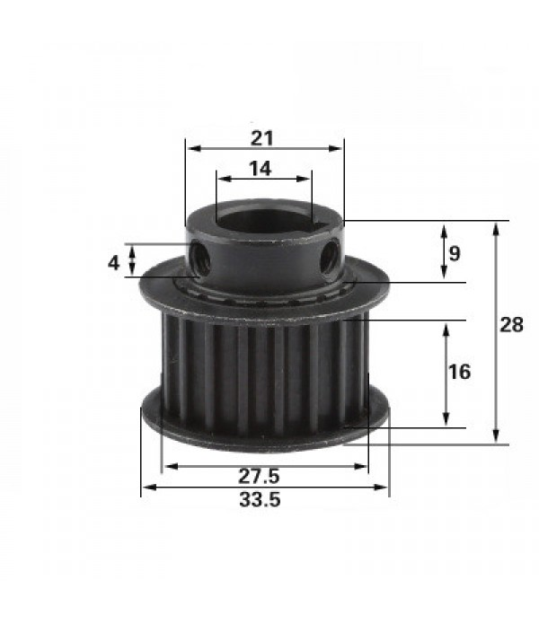 5M-18T-STEEL  BF-14MM PULLEY