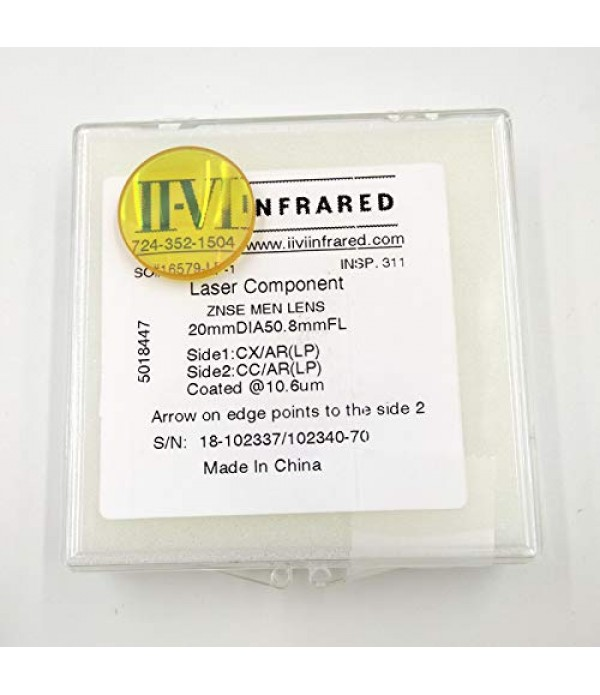 II VI Infrared Co2 Laser Focus Lens 50.8mm Dia 20m...