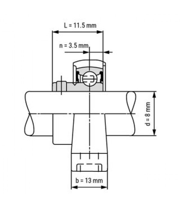 KP08 SUPPORT BEARING BEARING