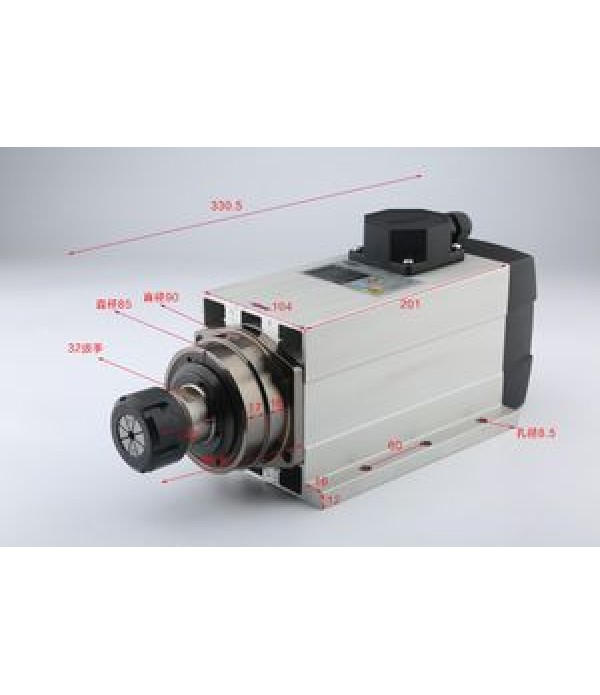 4.5KW HQD Flange Air Cooling Spindle