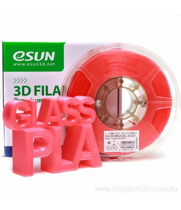 ESUN PLA + FILAMENT (GLASS WATERMELON RED) 1.75