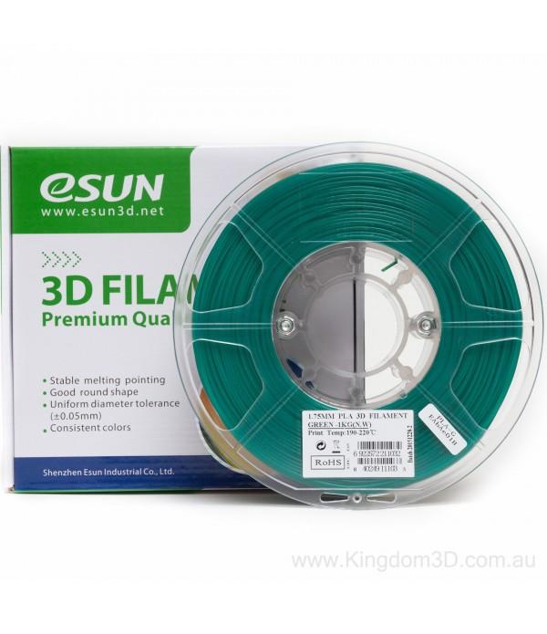 ESUN PLA + FILAMENT (GREEN) 1.75