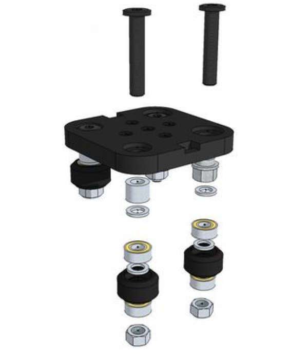 Black Anodized aluminum Mini V Gantry Set