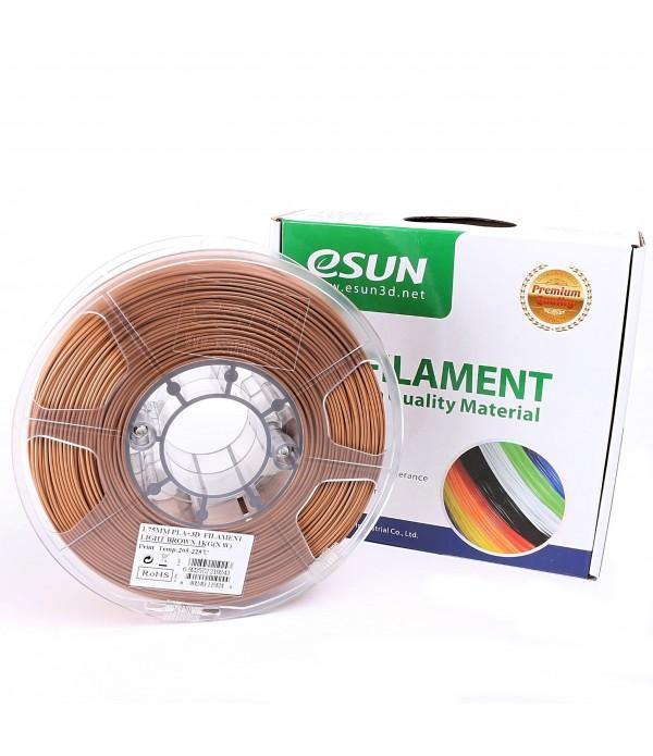 ESUN PLA + FILAMENT (LIGHT BROWN) 1.75
